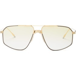 Jacques Marie Mage - Jagger Aviator Titanium Sunglasses - Womens - Green Gold found on MODAPINS from Matches UK for USD $1029.80