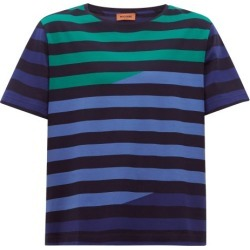 Missoni - Striped Cotton-jersey T-shirt - Mens - Navy Multi found on Bargain Bro UK from Matches UK
