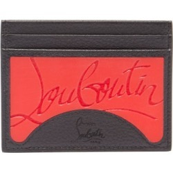 Christian Louboutin - Kios Grained Leather And Rubber Cardholder - Womens - Black Red found on Bargain Bro Philippines from Matches Global for $290.00