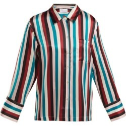 Asceno - Striped Silk Pyjama Top - Womens - Multi Stripe found on MODAPINS from MATCHESFASHION.COM - AU for USD $86.65