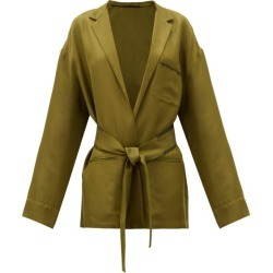 Haider Ackermann - Belted-waist Twill Jacket - Womens - Khaki Multi found on MODAPINS from MATCHESFASHION.COM - AU for USD $957.15
