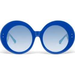 Linda Farrow X Paco Rabanne - Donyale Oversized Acetate Sunglasses - Womens - Blue found on MODAPINS from Matches Global for USD $470.00