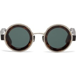 Kuboraum - Lunettes rondes en métal et acétate Z3 found on MODAPINS from matchesfashion.com fr for USD $616.20