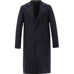 Harris Wharf London - Pressed-wool Single-breasted Overcoat - Mens - Navy found on MODAPINS from MATCHESFASHION.COM - AU for USD $754.05