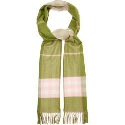 Burberry - Checked Cashmere Scarf - Womens - Green Multi found on Bargain Bro India from Matches Global for $470.00