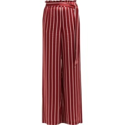 Asceno - Striped Silk Pyjama Style Trousers - Womens - Burgundy Stripe found on MODAPINS from Matches UK for USD $172.39