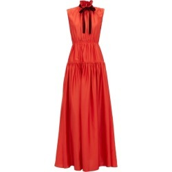Roksanda - Giona Tie-neck Tiered Crepe Dress - Womens - Red found on Bargain Bro Philippines from MATCHESFASHION.COM - AU for $2074.32