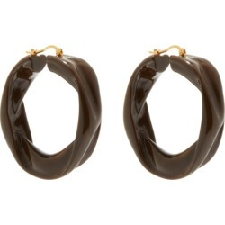 Jil Sander - Sculpted-resin Hoop Earrings - Womens - Brown found on Bargain Bro UK from Matches UK