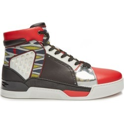 Christian Louboutin - Baskets montantes en cuir Loubikick found on Bargain Bro from matchesfashion.com fr for USD $1,180.66
