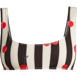 Solid & Striped - The Elle Cherry Print Bikini Top - Womens - Black Multi found on Bargain Bro UK from Matches UK
