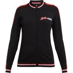 Bella Freud - 24 Heures Intarsia Cashmere Zip Through Sweater - Womens - Black Multi found on MODAPINS from Matches UK for USD $619.36