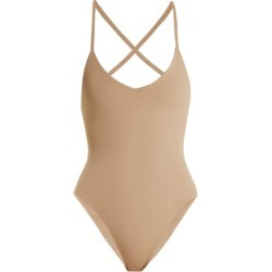 Dos Gardenias - Darkstar Crossover-back Swimsuit - Womens - Nude found on Bargain Bro UK from Matches UK