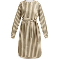 Golden Goose - Belted Striped Cotton-blend Dress - Womens - Cream Stripe found on Bargain Bro UK from Matches UK