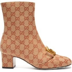 Gucci - Gg Canvas Ankle Boots - Womens - Beige Multi found on MODAPINS from Matches Global for USD $1250.00