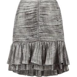 Jonathan Simkhai - Ruffled Plissé-lamé Mini Skirt - Womens - Silver found on MODAPINS from MATCHESFASHION.COM - AU for USD $169.45