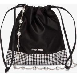 Miu Miu - Crystal-embellished Satin Cross-body Bag - Womens - Black Multi found on Bargain Bro UK from Matches UK