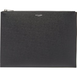 Saint Laurent - Logo-print Medium Grained-leather Tablet Pouch - Mens - Black found on Bargain Bro UK from Matches UK