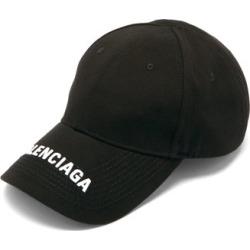 Balenciaga - Logo-embroidered Cotton-twill Baseball Cap - Mens - Black White found on Bargain Bro UK from Matches UK