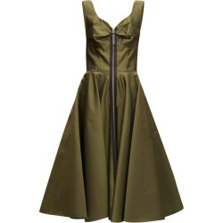 Marni - Zip-through Bustier-inspired Twill Midi Dress - Womens - Green found on Bargain Bro from Matches UK for £752