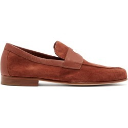 John Lobb - Hendra Suede Penny Loafers - Mens - Brown found on MODAPINS from Matches Global for USD $940.00