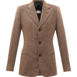 Maison Margiela - Single-breasted Herringbone Suit Jacket - Womens - Brown found on Bargain Bro UK from Matches UK