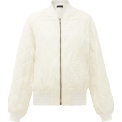 Haider Ackermann - Diamond-quilted Wool-twill Bomber Jacket - Womens - Ivory found on MODAPINS from MATCHESFASHION.COM - AU for USD $497.04