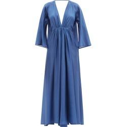 Kalita - Robe longue en georgette de soie froncée Clemence found on MODAPINS from matchesfashion.com fr for USD $1168.70