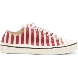 Marni - Stripe Cotton-canvas Trainers - Mens - Red White found on Bargain Bro UK from Matches UK