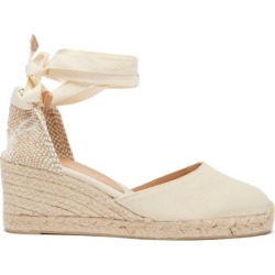 Castañer - Carina 60 Canvas & Jute Wedge Espadrilles - Womens - Cream found on MODAPINS from Matches Global for USD $135.00