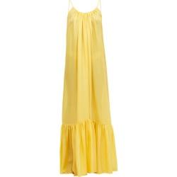 Kalita - Brigitte Habotai-silk Maxi Dress - Womens - Yellow found on MODAPINS from Matches Global for USD $284.00