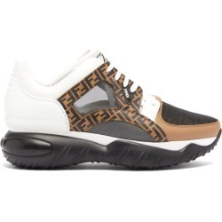 Fendi - Exaggerated-sole Leather And Mesh Trainers - Mens - Black Multi found on Bargain Bro UK from Matches UK