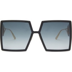 Dior - 30montaigne Square Acetate Sunglasses - Womens - Black Grey found on Bargain Bro UK from Matches UK