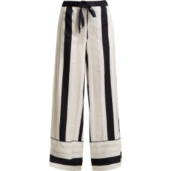 Adam Lippes - Striped Jacquard Trousers - Womens - Navy White found on MODAPINS from MATCHESFASHION.COM - AU for USD $347.90
