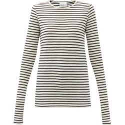 Raey - Long-sleeved Striped Slubby Cotton-jersey T-shirt - Womens - Navy Stripe found on Bargain Bro Philippines from MATCHESFASHION.COM - AU for $99.30