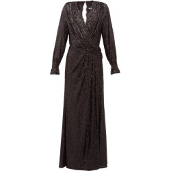 Jonathan Simkhai - Sequin-embroidered Draped V-neck Gown - Womens - Black found on Bargain Bro Philippines from MATCHESFASHION.COM - AU for $1138.17
