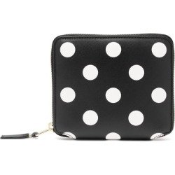 Comme Des Garçons Wallet - Polka-dot Leather Zip Wallet - Womens - Black Multi found on MODAPINS from MATCHESFASHION.COM - AU for USD $170.78