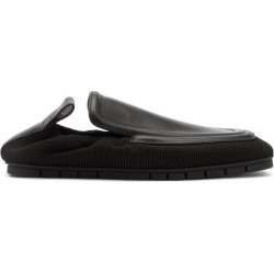 Bottega Veneta - Plank Leather And Technical-knit Loafers - Mens - Black found on Bargain Bro UK from Matches UK