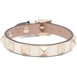 Valentino Garavani - Rockstud Leather Bracelet - Womens - Silver found on Bargain Bro from Matches UK for £141