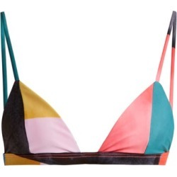 Mara Hoffman - Astrid Triangle Bikini Top - Womens - Blue Multi found on Bargain Bro Philippines from Matches Global for $43.00