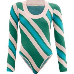 Dodo Bar Or - Summer Stripe-intarsia Bodysuit - Womens - Green Multi found on Bargain Bro UK from Matches UK