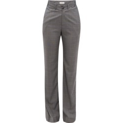 Balenciaga - Checked High-rise Wool-blend Trousers - Womens - Grey Multi found on Bargain Bro India from Matches Global for $495.00