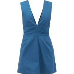 Kalita - Lemuria Tie-back Cotton Playsuit - Womens - Navy found on MODAPINS from Matches UK for USD $190.46