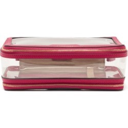 Anya Hindmarch - In-flight Leather And Tpu Wash Bag - Womens - Pink found on MODAPINS from Matches UK for USD $293.52