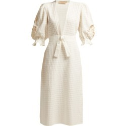 Adriana Degreas - Porto Embroidered Midi Dress - Womens - White found on Bargain Bro UK from Matches UK