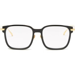 Linda Farrow - Franklin Square Acetate Glasses - Womens - Black Gold found on MODAPINS from Matches UK for USD $756.26