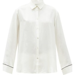 Asceno - London Sandwashed Silk-satin Pyjama Shirt - Womens - White found on MODAPINS from Matches UK for USD $394.31