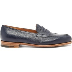 John Lobb - Lopez Grained-leather Penny Loafers - Mens - Navy found on MODAPINS from Matches UK for USD $1387.14