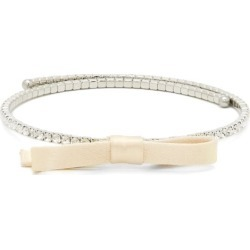 Miu Miu - Bow-embellished Crystal Choker Necklace - Womens - Crystal found on Bargain Bro UK from Matches UK