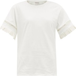 Moncler - Logo-trimmed Cotton-jersey T-shirt - Womens - White found on Bargain Bro India from Matches Global for $435.00