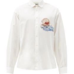 Jacquemus - Henri Cherry-print Organic-cotton Shirt - Mens - White found on Bargain Bro UK from Matches UK